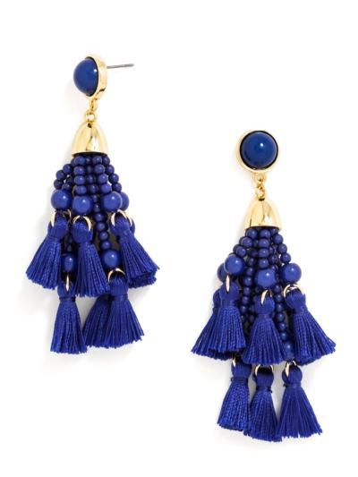 Cobalt blue statement earrings