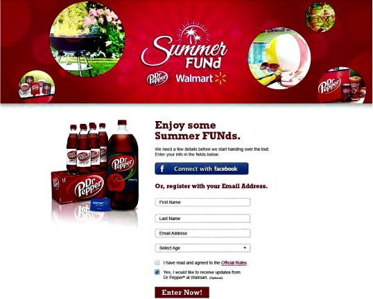 Summer FUNd with Dr Pepper and Walmart