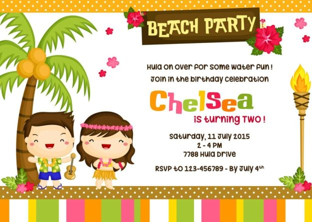 party themes for kids- luau or beach themed party