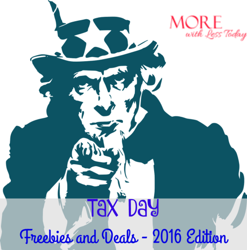 tax day freebies and deals