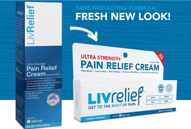 LivRelief pain cream on Amazon.com