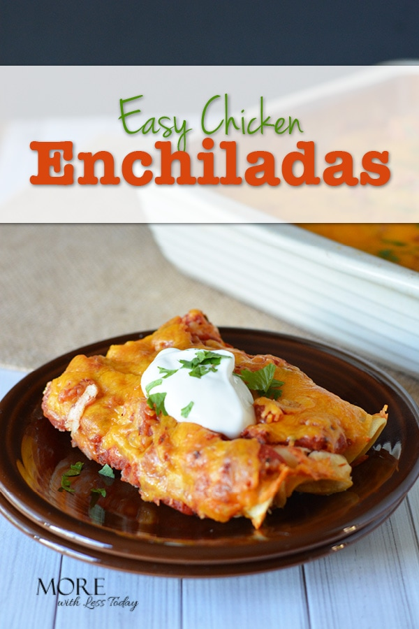 Easy Chicken Enchiladas- Step by Step Recipe - Are you looking for an easy chicken enchilada recipe that you can make ahead?