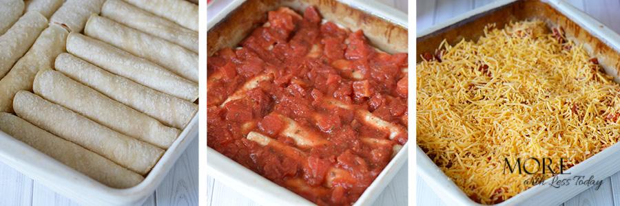 step by step Chicken Enchilada Recipe
