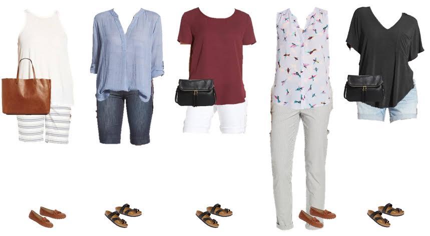 Nordstrom Capsule Wardrobe for summer packing