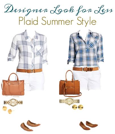 Get the Designer Look for Less - Plaid Summer Style from Target.com. Are you mad for plaid? See how we replicated a high end outfit for less.