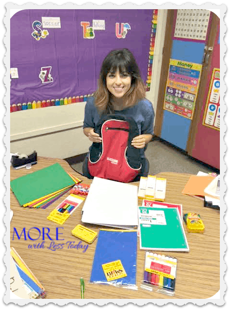 With a daughter as a new teacher, I learned how much she spent last year. Donated school supplies from Classroom Direct made this teacher happy!