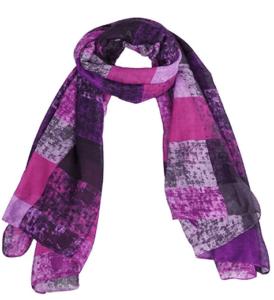 missshorthair-womens-light-weight-colorful-painting-plaid-tartan-infinity-scarf-purple