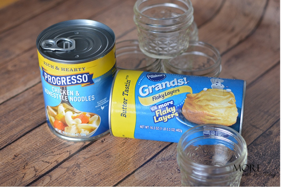 Progresso soup with a Biscuit topper recipe