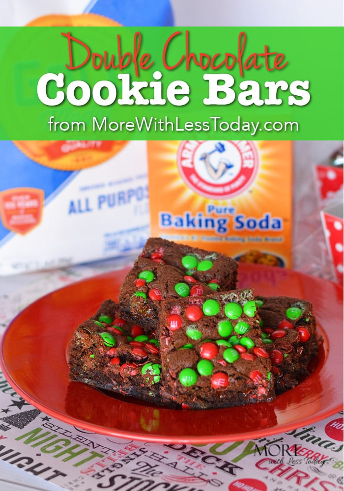 Double Chocolate Cookie Bars recipe with Walmart quality ingredients