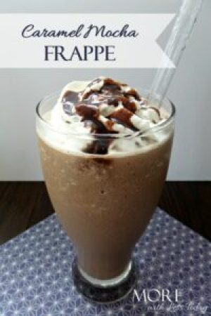 lactose free caramel mocha frappe