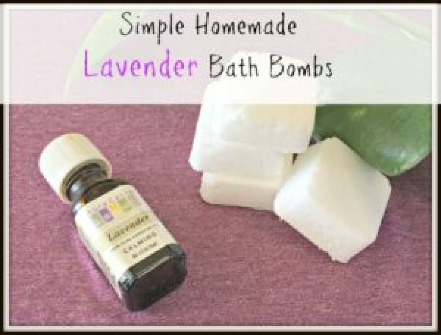 Try our simple homemade bath bombs made with Lavender Essential Oils that use only 4 ingredients. These make great inexpensive gifts!