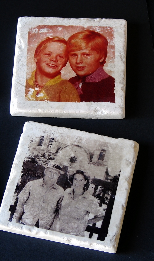 Photo Transfers Using Nail Polish Remover- Make Photo Tiles