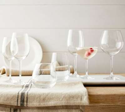 wine glasses Pottery Barn