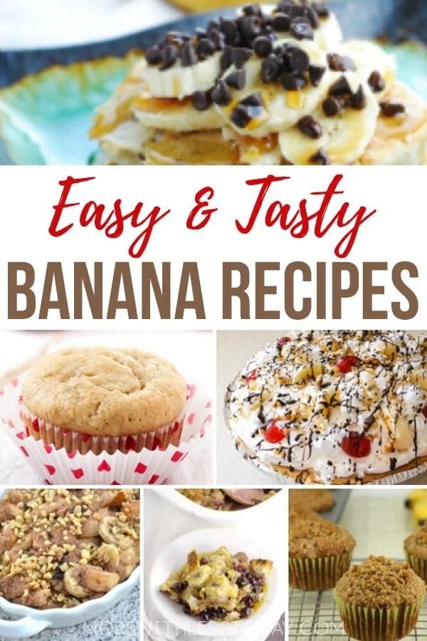 Favorite Banana Recipes - What to Make with Leftover Bananas. No need to throw away bananas. Enjoy these easy and tasty bananas recipes from top recipe creators. #banana #bananarecipes