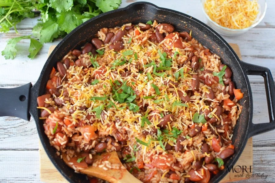 one pot recipe meatless Red Beans and Rice