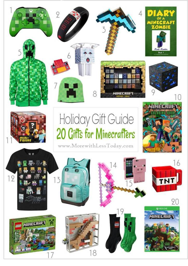 Minecraft Gift Guide - Cool Minecraft Gifts 2017 Edition. If you have a Minecraft gamer on your gift list, here are the most wanted gifts!