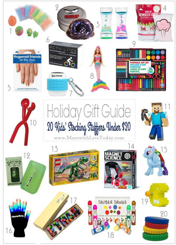 Looking for easy stocking stuffer gifts that won't bust the budget? We put together a holiday gift guide full of stocking stuffers for under $20.