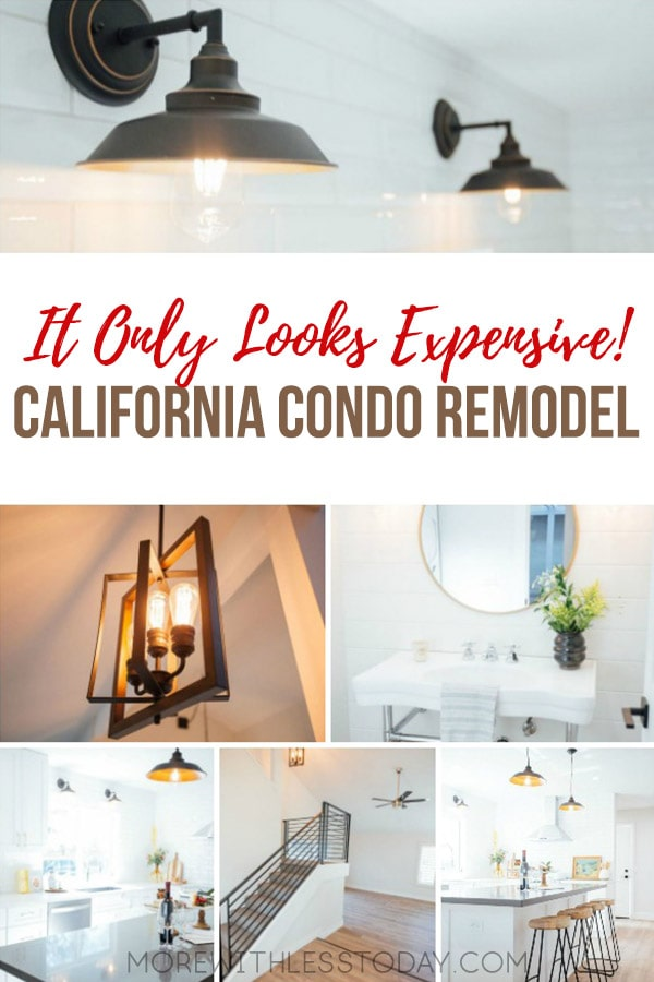 On Trend Lighting Fixtures for a California Condo Remodel - the Sources Will Surprise You! If you are remodeling a kitchen on a budget, this magazine-worthy redo will inspire you. #decor #kitchenremodel