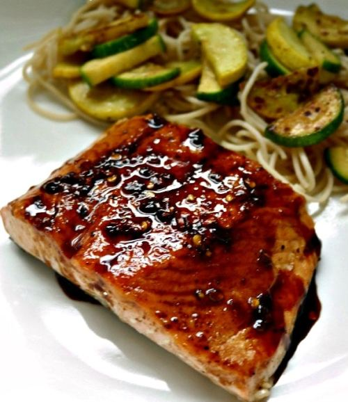 Honey Balsamic Pan Seared Salmon