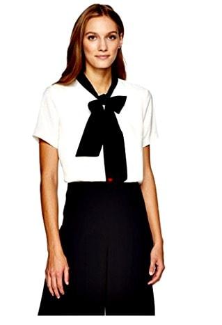 Broadway Tie Neck blouse Dear Drew Collection