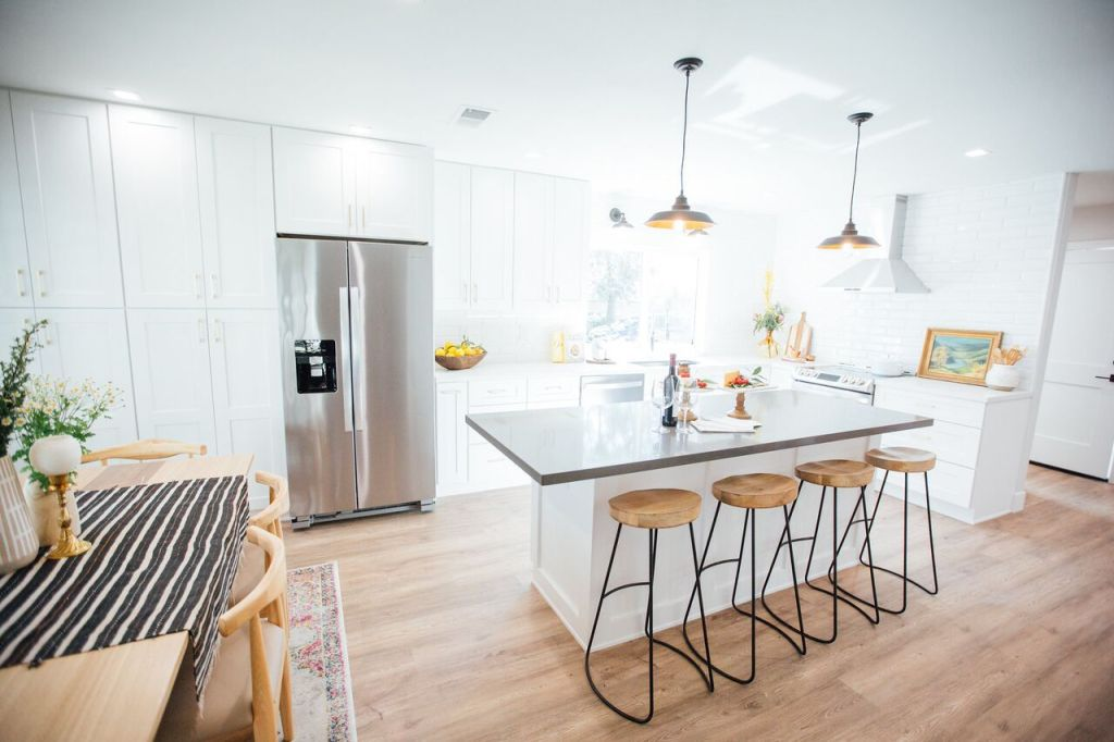 On Trend Lighting Fixtures for a California Condo Remodel - the Sources Will Surprise You! If you are remodeling a kitchen on a budget, this magazine-worthy redo will inspire you.