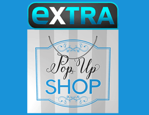 Extra TV Pop Up Shop Extra Hot Deals logo