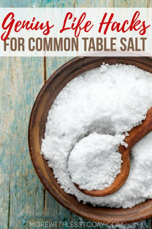 Genius Life Hacks Using Table Salt that Everyone Should Try! One of the most common ingredients in our kitchen, salt, can be used in so many clever ways. We came up with 48 new ways to use table salt that you may not have known about.