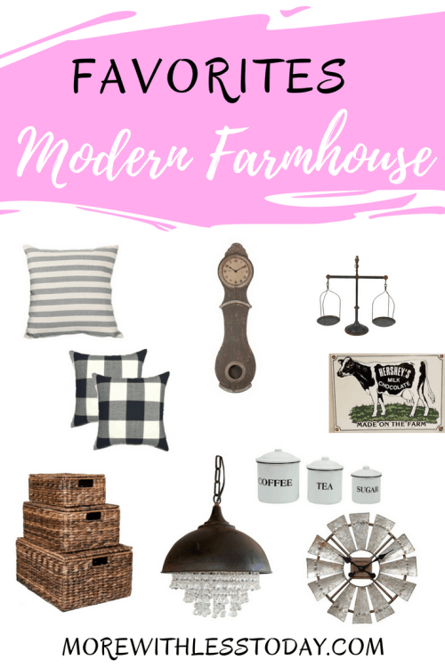 Do you love any and all things farmhouse? Are you like me and like the look of the old mixed in with the new? Here are some of myModern Farmhouse Decor budget-friendly favorites.