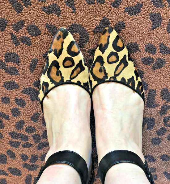 Sam Edelman leopard pumps with ankle strap