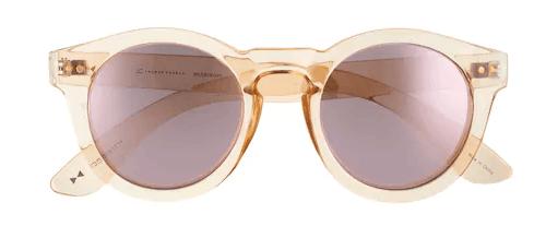 LC Lauren Conrad Arianna 50mm Round Mirrored Sunglasses Kohl's