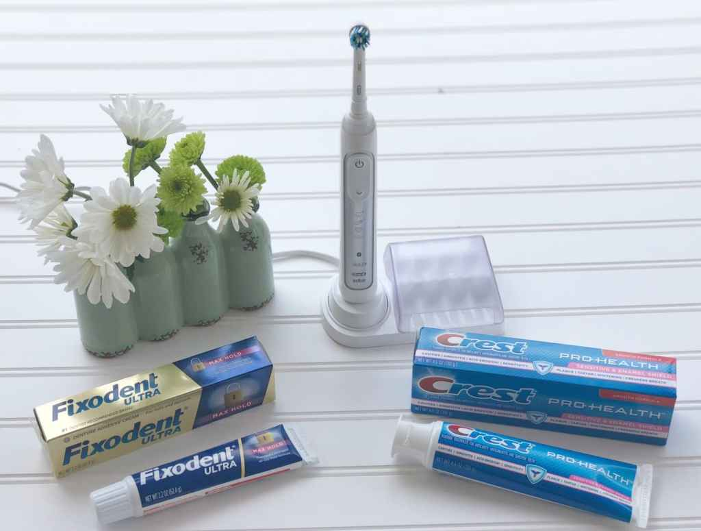 Products You Can Count On - Taking Care of Parents. One of those products we count on is Fixodent. Fixodent ULTRA Max Hold allows my mom to eat the foods she really enjoys. It keeps her dentures firmly in place and keeps food particles from slipping under the dentures.
