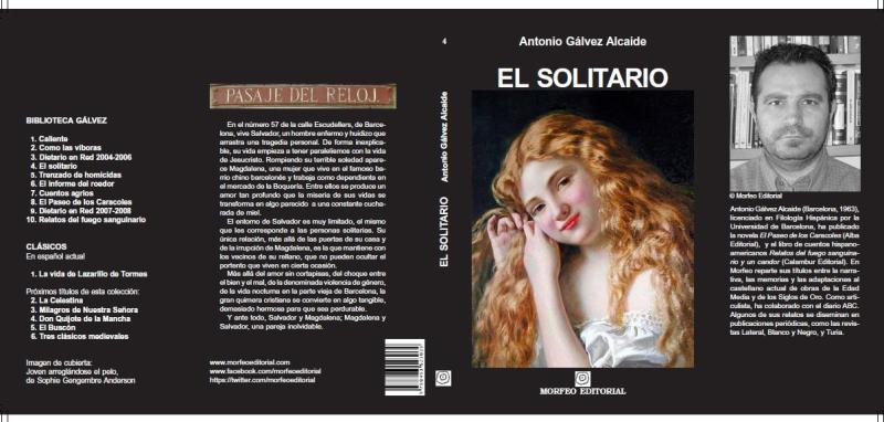 Cubierta de la novela El solitario, nueva edición (enero de 2018)