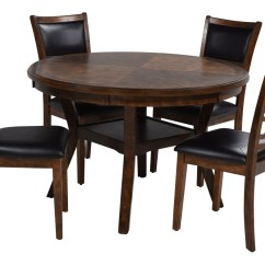 Round Table With Chairs Black Fitted Chair Covers Gia Light Brown 4 Save Mor