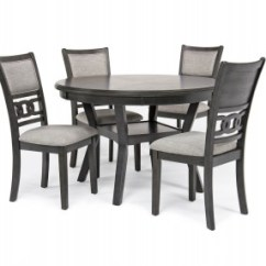 Round Table And Chairs Office Nap Chair Dining Room Tables Mor Furniture For Less Gia With 4 In Gray