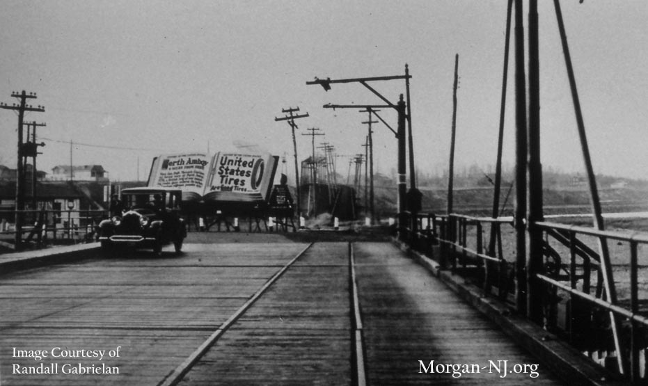 View from Morgan Bridge in the 1920s  Morgan New Jersey
