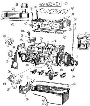 Engine  Kent Ford Cortina 1600 Parts Man 44   man