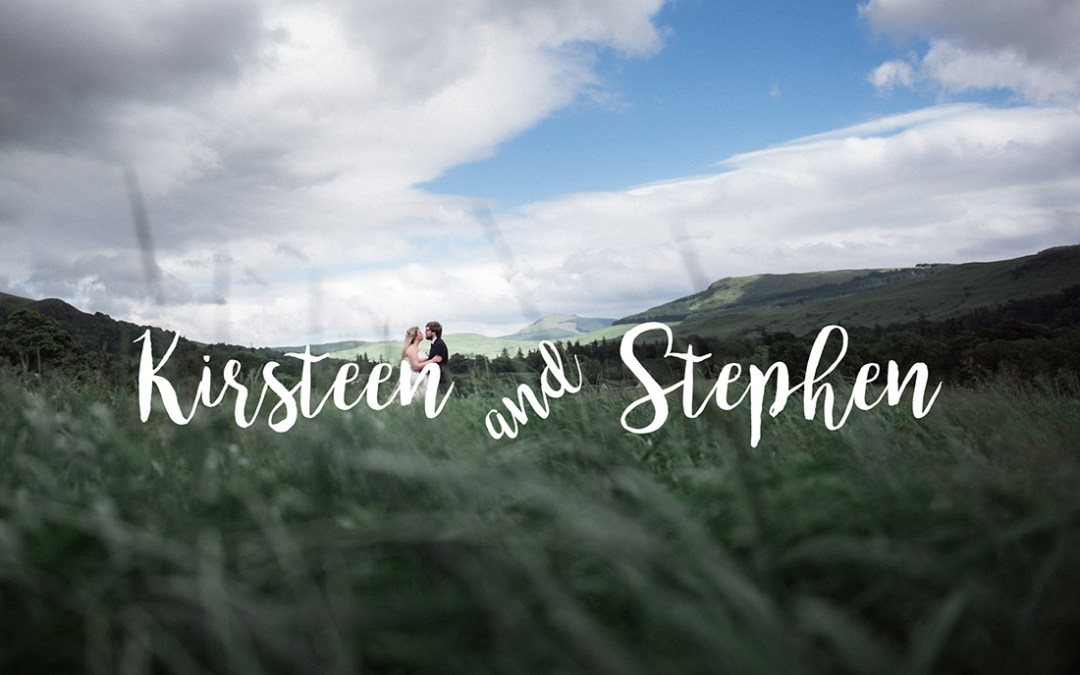 // Kirsteen + Stephen married at Knockraich Farm
