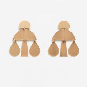 boucles d oreilles pendantes dore mango