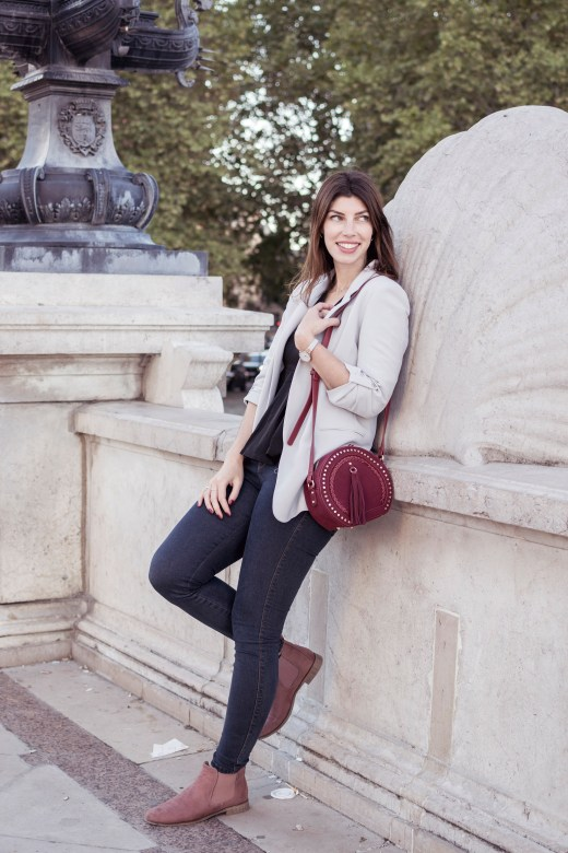 look blogueuse bordeaux sac rond