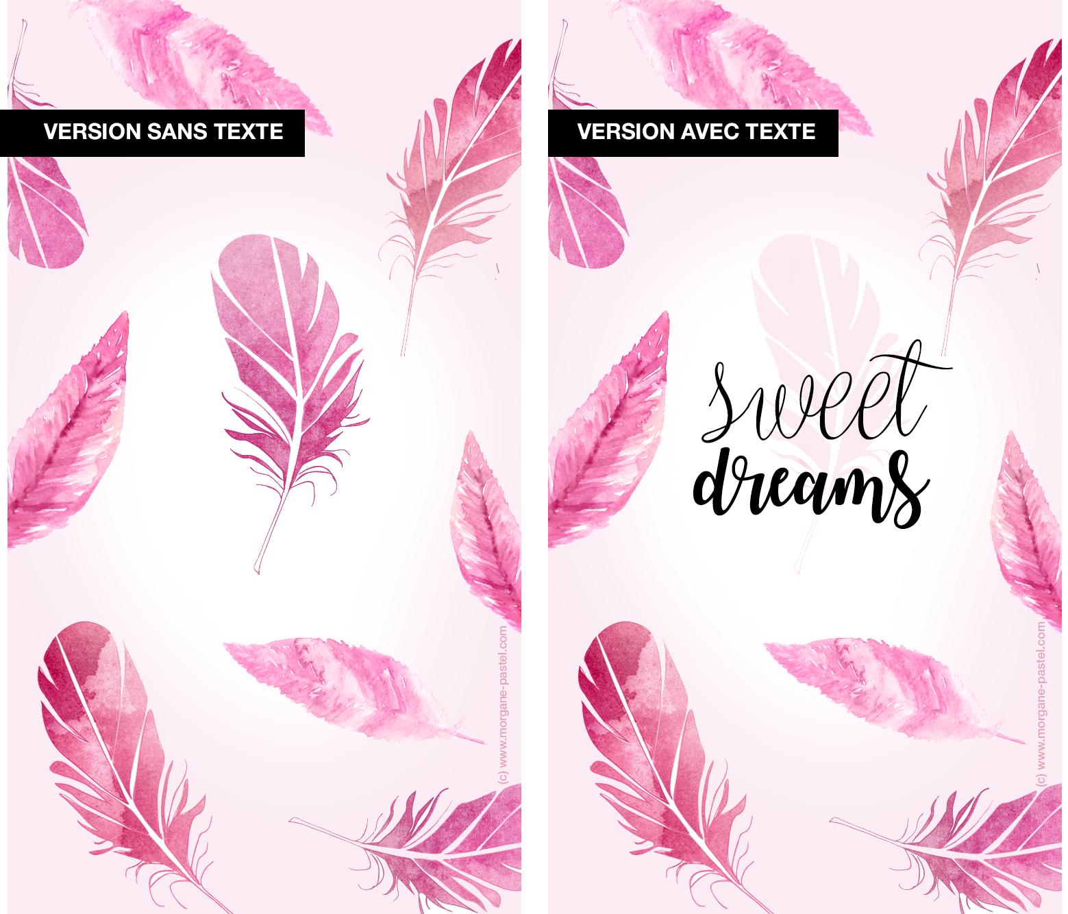 fond ecran gratuit plume violet iphone morgane pastel. Black Bedroom Furniture Sets. Home Design Ideas