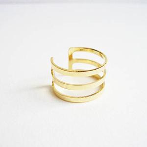 bague dore 3 anneaux