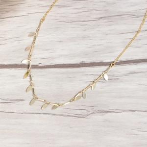 collier dore chocker aunaturelle creations