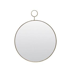 miroir rond doré