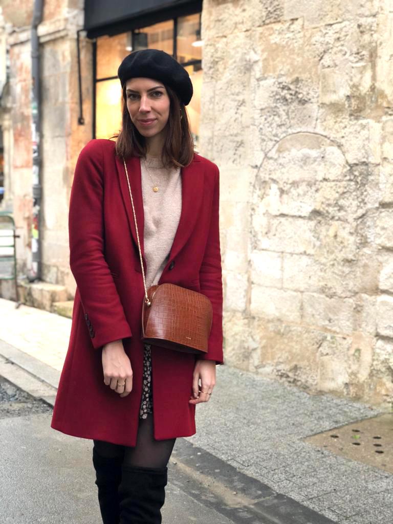 look blogueuse beret noir