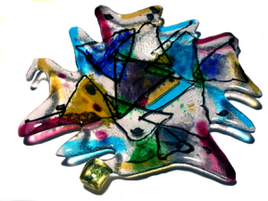 My first fused glass plate