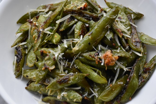 Garlic Parmesan Snap Peas