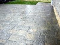 Large Tile Brick Patio in Random Pattern - Morgan K Landscapes