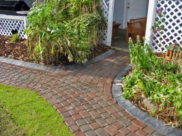 brick walkway with curbing - morgan