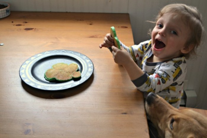 St. Patrick's Day pancakes are fun for everyone! Check out this post to learn how to make simple and festive pancakes!