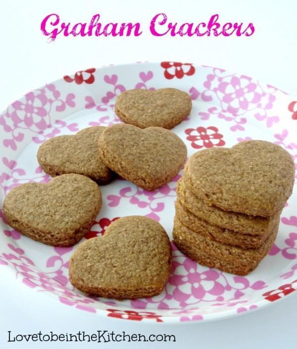 heart shaped food Graham Crackers